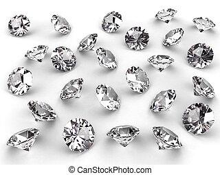 影, いくつか, 柔らかい, ダイヤモンド