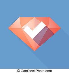 影, ダイヤモンド, 点検, 長い間, 印