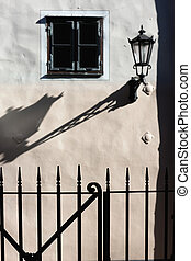 影, 壁, ライト