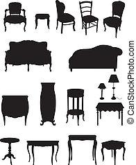 影, 家具