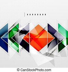 影, 抽象的, -, 技術, 背景, 正方形