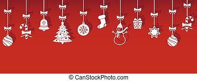 影, 掛かること, クリスマス, アイコン