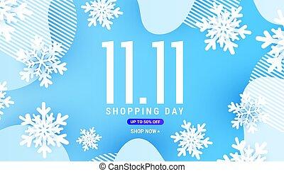 影, 白, 青, 旗, 形態, 波, 雪片, 液体, 平野, 形, 背景, 11.11, 装飾, 冬