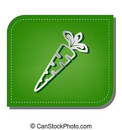 影, 銀, 生態学的, パッチを当てられた, 印, leaf., 線, illustration., 緑, ニンジン, 暗い, アイコン, 勾配