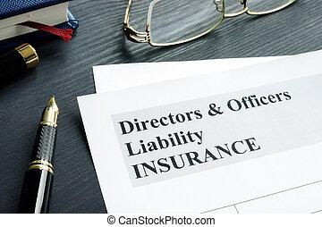 役人, form., 責任, 適用, ディレクター, d&o, 保険