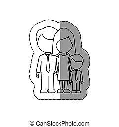 ∥(彼・それ)ら∥, アイコン, シルエット, 家族, 息子