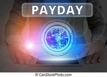 ∥(彼・それ)ら∥, 供給される, payday., 賃金, 写真, 概念, expects, 印, テキスト, 提示, nasa., 要素, 支払われた, 日, ありなさい, イメージ, これ, ∥あるいは∥, 誰か