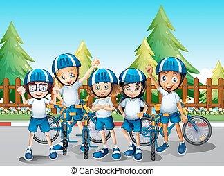 ∥(彼・それ)ら∥, 子供, 道のバイク