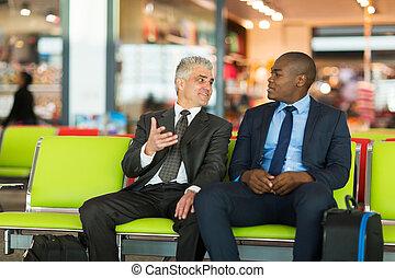 ∥(彼・それ)ら∥, 空港, 飛行, 待つこと, ビジネスマン