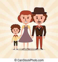 ∥(彼・それ)ら∥, 親, レトロ, 家族, 息子