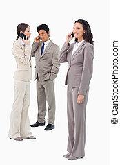 ∥(彼・それ)ら∥, businesspeople, cellphones