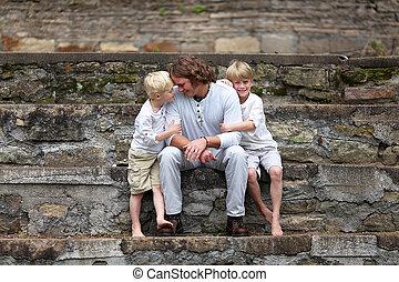 彼の, モデル, 父, 若い, 2, 外, 息子