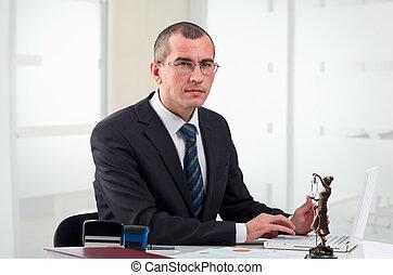 彼の, 仕事場, 弁護士