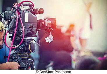 彼の, 仕事, 装置, カメラ, ビデオ, オペレーター