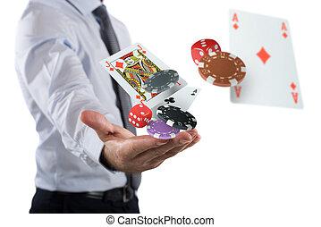 彼の, 作り, 相場師, 賭け