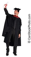 彼の, 卒業, 男の子, 祝う, 幸せ