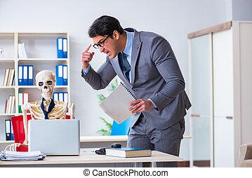 彼の, 叫ぶ, 怒る, 上司, 従業員, スケルトン