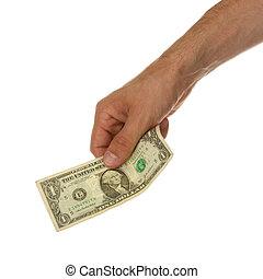 彼の, 手形, ドル, 手の 保有物, 1人の男
