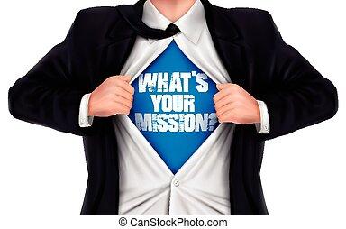 彼の, 提示, 代表団, 下に, 言葉, ビジネスマン, shi, ある何が, あなたの