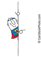彼の, superhero, 板