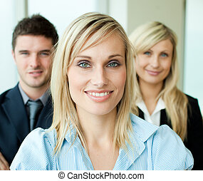 彼女, チーム 肖像画, 女性実業家, 前部