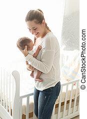 彼女, 保有物, 母, 赤ん坊, 肖像画, 幸せ