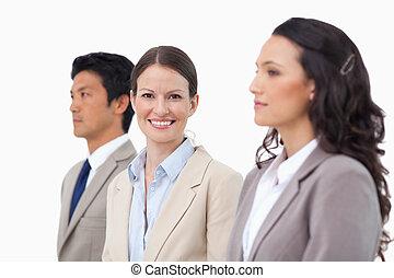 彼女, 同僚, 微笑, 女性実業家, ∥間に∥
