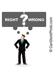 彼, スピーチ, 権利, 人, wrong., 描きなさい, 考え, はっきりしない, ビジネス, ∥あるいは∥, leader., 泡, もし