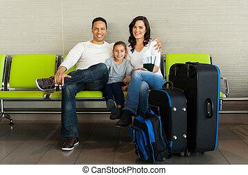 待つこと, 空港, 家族, 手荷物