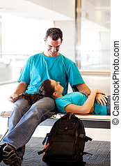 待つこと, 空港, 飛行, 恋人, 若い