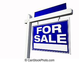 待售, 房地產 標誌, 在懷特上