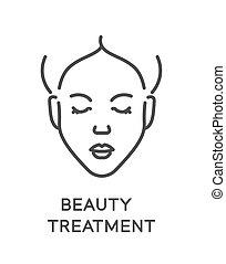 待遇, 美の 処置, 顔, 心配, 美顔術, 清掃