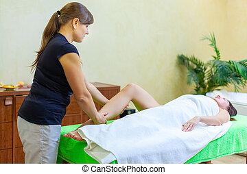 待遇, 足, エステ, 女, オイル, タイ人, セラピスト, マッサージ, 弛緩, 寄付, reflexology, 専門家