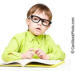很少, 书, 玩, 孩子