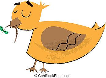 很少, 鳥, 孩子, 插圖