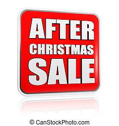 後で, クリスマス, セール, 旗
