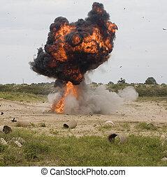 後で, 爆発, ただ
