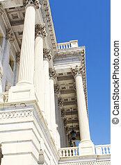 後部, の, 国会議事堂, 中に, washington d.c.