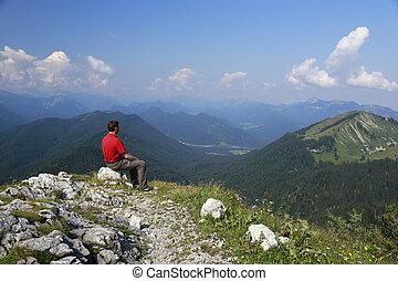 徒步旅行者, 山達到最高峰