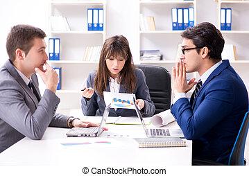従業員, ミーティング, ビジネスオフィス
