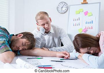 従業員, 仕事, 後で, 夜