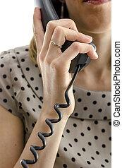 従業員, 呼出し 中心, 保有物の 電話