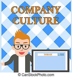 従業員, 捜索しなさい, 要素, 提示, ビジネス, 写真, 会社, 仕事の道具, 執筆, 環境, presentation., スピーカー, テキスト, 概念, culture., 手, スクリーン, マレ