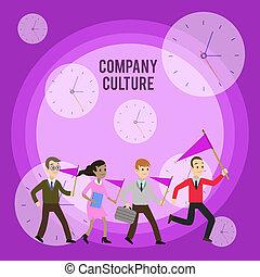 従業員, 要素, 提示, ビジネス, 群集, 先頭に立たれる, 写真, 会社, 仕事, 執筆, 環境, showcasing, 動くこと, 旗, meeting., 概念, culture., 手, デモンストレーション, リーダー