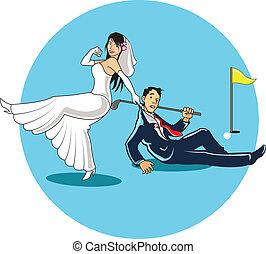 得なさい, ゴルファー, 結婚されている
