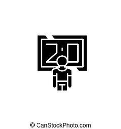 得分, 黑色, 圖象, concept., 得分, 套間, 矢量, 符號, 簽署, illustration.