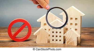 得難い, interdictions, 禁止令, 建物。, settlements., 近づき難さ, 中で, 索引,...
