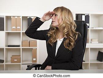 從事工商業的女性, 主演, 進, the, 距離, 等待