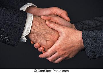 從事工商業的女性, 握手, 辦公室, 商人