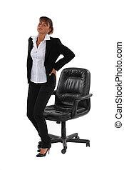 從事工商業的女性, 由于, 回疼痛